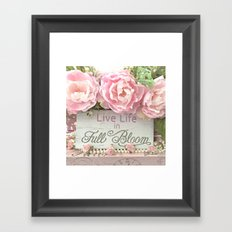 Shabby Chic Cottage Pink Peonies Inspirational Art Print Home Decor Framed Art Print