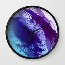 Grape and Deep Blue Smear Wall Clock