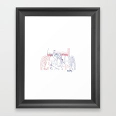 Vive la France! Framed Art Print