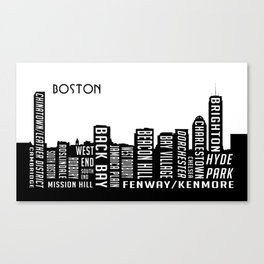 Skyline Boston Canvas Print