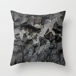 Iceland Rock wall Throw Pillow