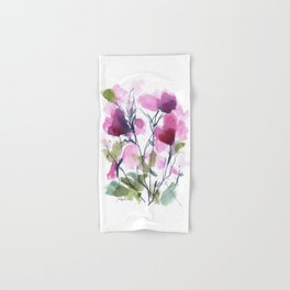 Pink Heart Petals Hand & Bath Towel