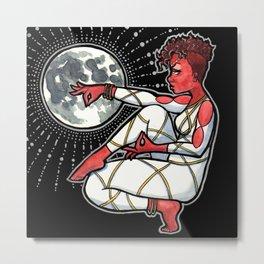 Blood Moon Goddess Metal Print
