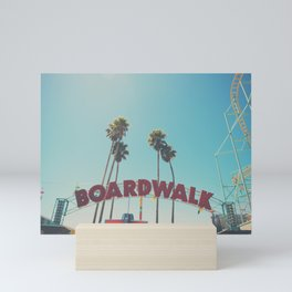 Santa Cruz boardwalk ... Mini Art Print