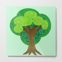 Paper Doll Tree Metal Print
