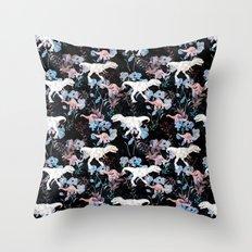 Jurassic Noir Throw Pillow