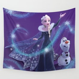 Elsa and Olaf Wall Tapestry