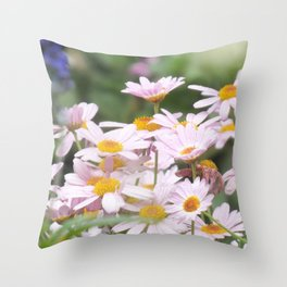 Yellow centres Throw Pillow