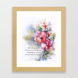 Alluring Blooms by Kathy Morton Stanion Framed Art Print