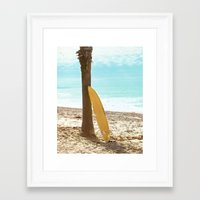 surfboard Framed Art Prints featuring Surfboard by Sherman Photography