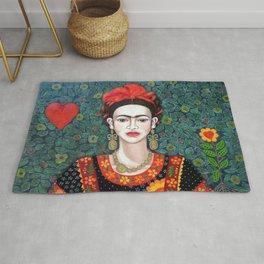 Frida - queen of hearts closer Rug