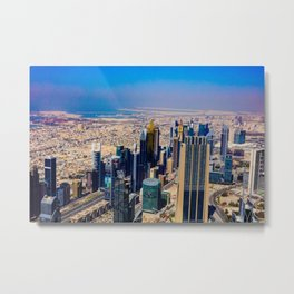 Dubaï, The View Of A Day Metal Print