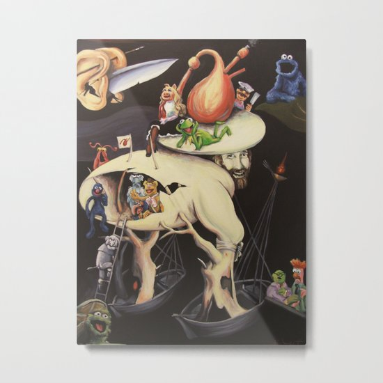The Garden of Muppetly Delights Metal Print