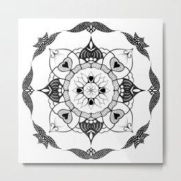 Eternal Love Mandala Metal Print