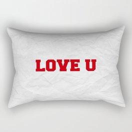 Love U Rectangular Pillow