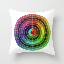 Time divisions Throw Pillow