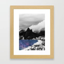 Ipanema's Cosmic Sea Framed Art Print
