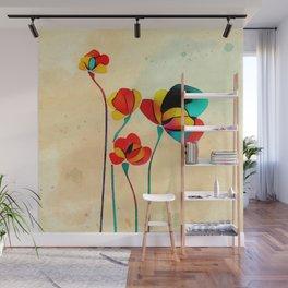 Exotic Watercolor Flower Wall Mural