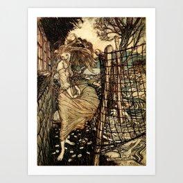 Arthur Rackham - Fouqué - Undine (1909) - Undine by the Water Art Print