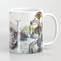 street Mugs featuring Street by Jon Enko