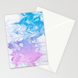 Nanaha - spilled ink abstract painting watercolor water marble marbled cell phone case japanese Stationery Cards
