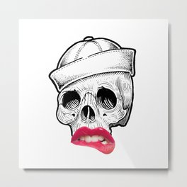 You can leave your hat on. Metal Print