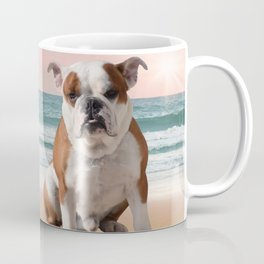 Cute French Bulldog Beach Sun Water Coffee Mug