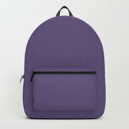 Tyrian Purple Solid Color Plain Backpack