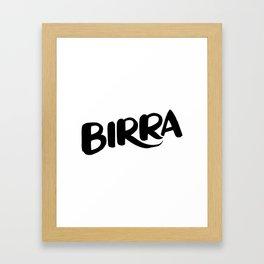 Birra Framed Art Print