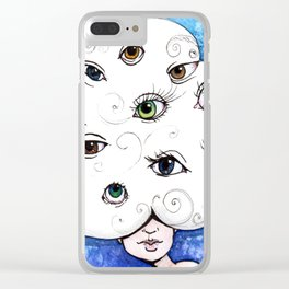 Eyes in the Cloud Clear iPhone Case