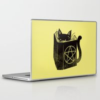 witchcraft Laptop & iPad Skins featuring Witchcraft Cat by Tobe Fonseca