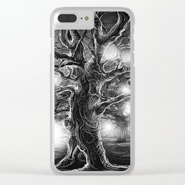 Gray Tree Clear iPhone Case