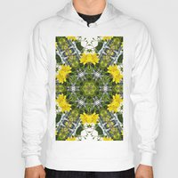 marc johns Hoodies featuring Kaleidoscope of showy St Johns Wort  by Wendy Townrow