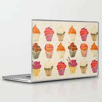 cupcakes Laptop & iPad Skins featuring Cupcakes by Cat Coquillette