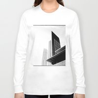 buildings Long Sleeve T-shirts featuring City Buildings by Ewan Arnolda