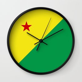 flag of Acre Wall Clock