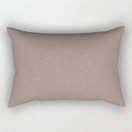 Sherwin Williams Cavern Clay Abstract Multi Sized Triangle Shape Pattern on Slate Violet Gray Rectangular Pillow