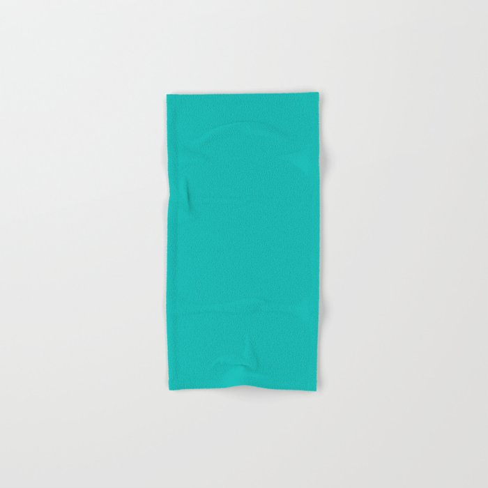 Tiffany Blue Solid Color Hand Bath Towel By Makeitcolorful
