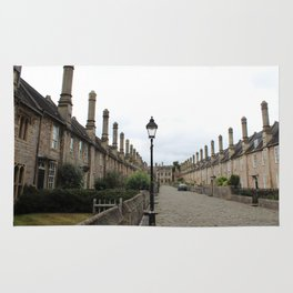 Wells Cathedral Classic/historic/old houses and side street in England Rug
