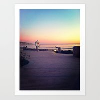 Laguna Beach Boardwalk Art Print