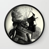 bdsm Wall Clocks featuring BDSM XXXI by DIVIDUS