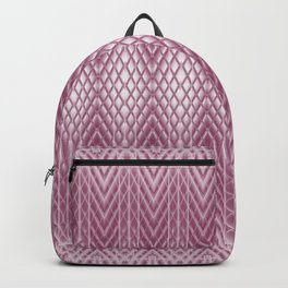 Icy Pink Frosted Geometric Relief Design Backpack