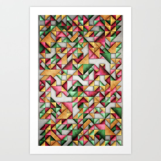 Geometric World Art Print
