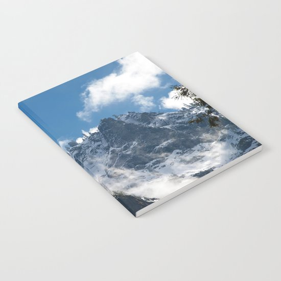 Snow Covered Peaks in Yosemite National Park Notebook