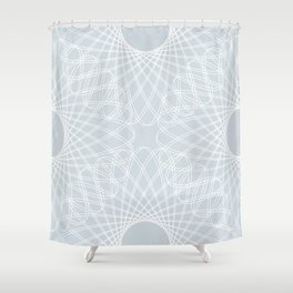 mathematical rotating roses - ice gray Shower Curtain
