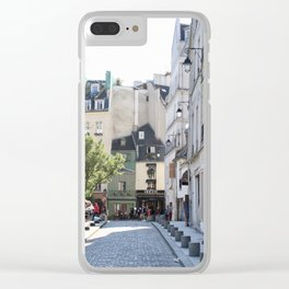 Paris City Streets Clear iPhone Case