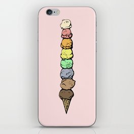 Giant Rainbow Ice Cream Cones iPhone Skin