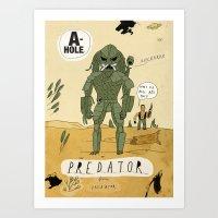 predator Art Prints featuring Predator by Patrick Latimer