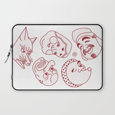 Japanese Masks Laptop Sleeve