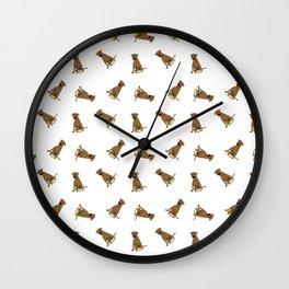 Dog Pattern Wall Clock